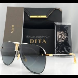 AUTHENTIC DITA DECADE TWO SILVER 18K GOLD